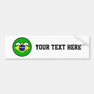 Funny Trending Geeky Brazil Countryball Bumper Sticker