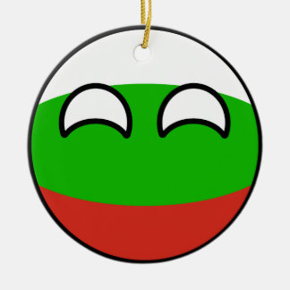 Funny Trending Geeky Bulgaria Countryball Ceramic Ornament