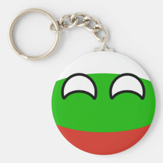 Funny Trending Geeky Bulgaria Countryball Key Ring