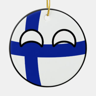 Funny Trending Geeky Finland Countryball Ceramic Ornament