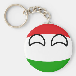 Funny Trending Geeky Hungary Countryball Key Ring