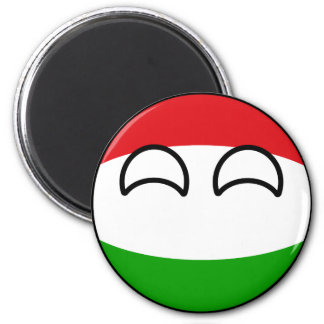 Funny Trending Geeky Hungary Countryball Magnet