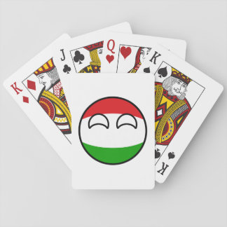 Funny Trending Geeky Hungary Countryball Playing Cards