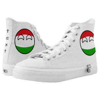 Funny Trending Geeky Hungary Countryball Printed Shoes