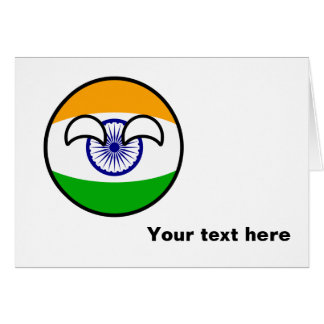 Funny Trending Geeky India Countryball Card