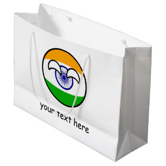 Funny Trending Geeky India Countryball Large Gift Bag
