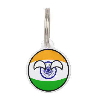 Funny Trending Geeky India Countryball Pet ID Tag