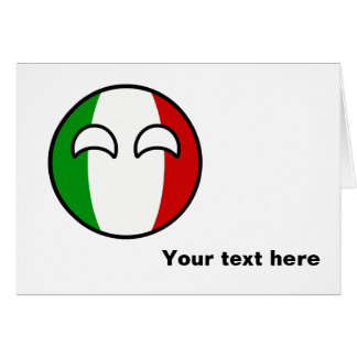 Funny Trending Geeky Italy Countryball Card