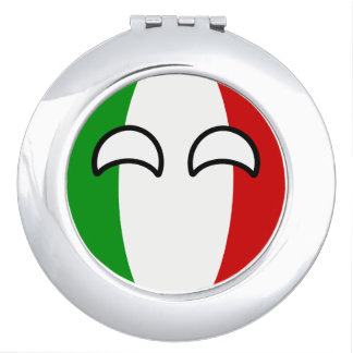 Funny Trending Geeky Italy Countryball Compact Mirrors