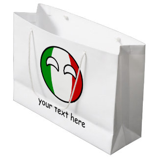 Funny Trending Geeky Italy Countryball Large Gift Bag
