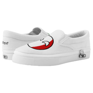 Funny Trending Geeky Italy Countryball Slip-On Shoes