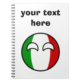 Funny Trending Geeky Italy Countryball Spiral Notebook