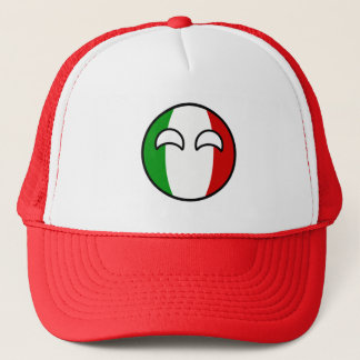 Funny Trending Geeky Italy Countryball Trucker Hat