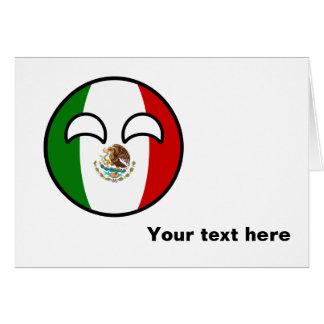 Funny Trending Geeky Mexico Countryball Card