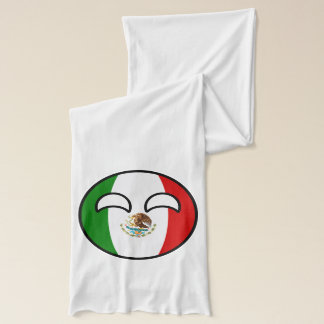 Funny Trending Geeky Mexico Countryball Scarf