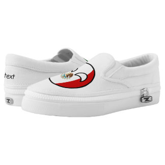Funny Trending Geeky Mexico Countryball Slip-On Shoes
