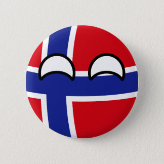 Funny Trending Geeky Norway Countryball 6 Cm Round Badge