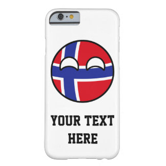 Funny Trending Geeky Norway Countryball Barely There iPhone 6 Case