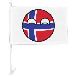 Funny Trending Geeky Norway Countryball Car Flag
