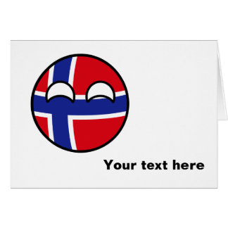 Funny Trending Geeky Norway Countryball Card