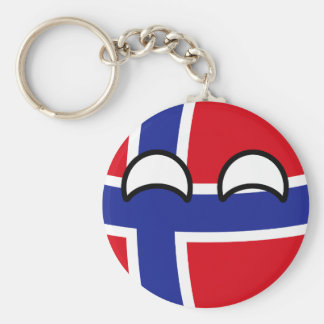 Funny Trending Geeky Norway Countryball Key Ring