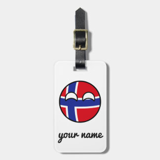 Funny Trending Geeky Norway Countryball Luggage Tag