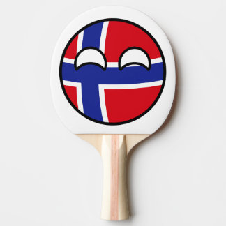 Funny Trending Geeky Norway Countryball Ping Pong Paddle