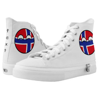 Funny Trending Geeky Norway Countryball Printed Shoes