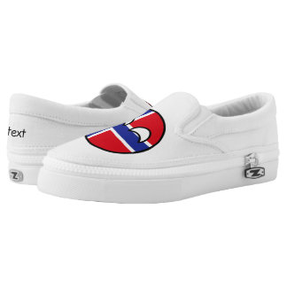 Funny Trending Geeky Norway Countryball Slip-On Shoes