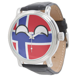 Funny Trending Geeky Norway Countryball Watch