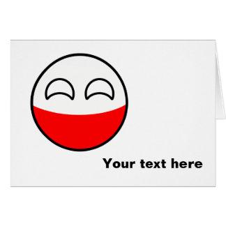Funny Trending Geeky Poland Countryball Card