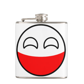 Funny Trending Geeky Poland Countryball Hip Flask