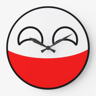Funny Trending Geeky Poland Countryball Large Clock
