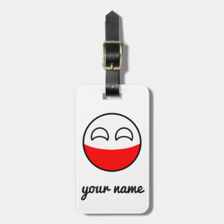 Funny Trending Geeky Poland Countryball Luggage Tag