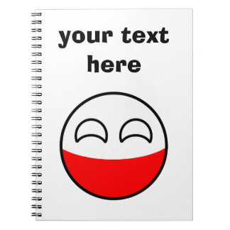 Funny Trending Geeky Poland Countryball Notebooks