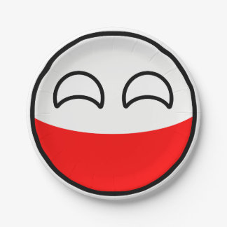 Funny Trending Geeky Poland Countryball Paper Plate