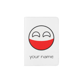 Funny Trending Geeky Poland Countryball Passport Holder