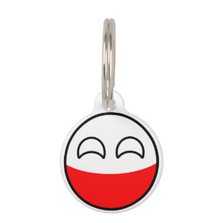 Funny Trending Geeky Poland Countryball Pet Tag