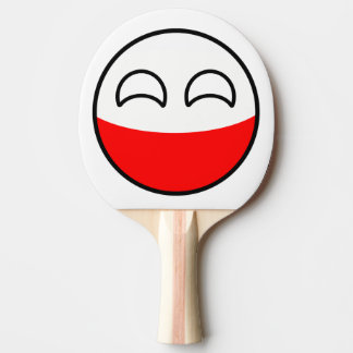 Funny Trending Geeky Poland Countryball Ping Pong Paddle