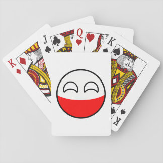 Funny Trending Geeky Poland Countryball Playing Cards