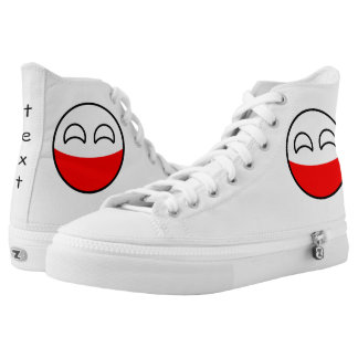 Funny Trending Geeky Poland Countryball Printed Shoes