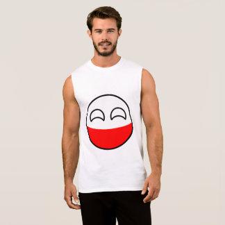 Funny Trending Geeky Poland Countryball Sleeveless Shirt