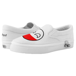 Funny Trending Geeky Poland Countryball Slip-On Shoes