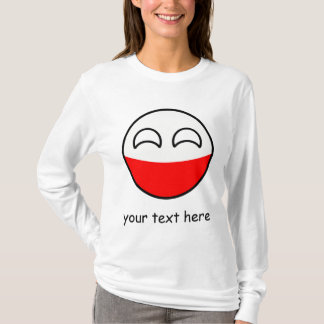 Funny Trending Geeky Poland Countryball T-Shirt