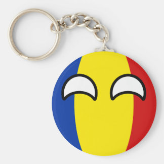 Funny Trending Geeky Romania Countryball Key Ring