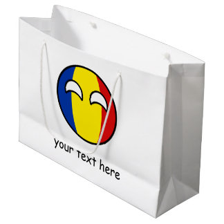 Funny Trending Geeky Romania Countryball Large Gift Bag