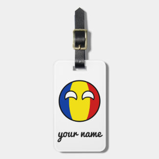 Funny Trending Geeky Romania Countryball Luggage Tag