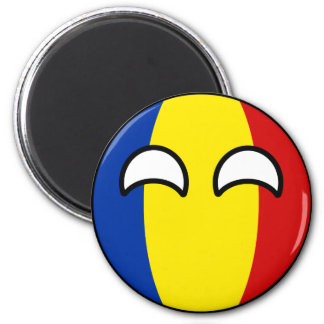 Funny Trending Geeky Romania Countryball Magnet