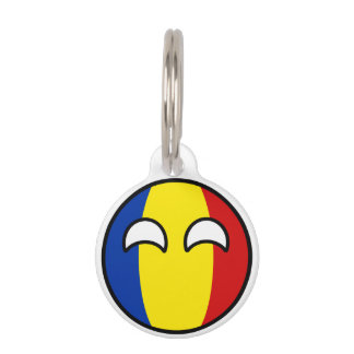 Funny Trending Geeky Romania Countryball Pet Name Tag