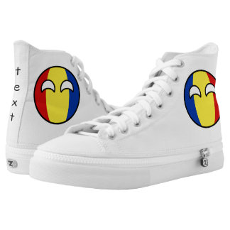 Funny Trending Geeky Romania Countryball Printed Shoes